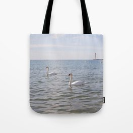 Riviera Swans Tote Bag