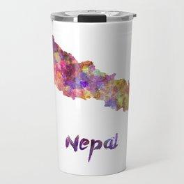 Nepal in watercolor Travel Mug