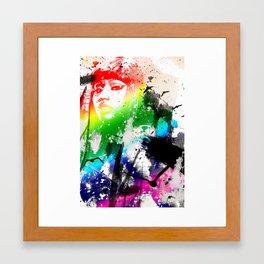 Colorful woman Framed Art Print