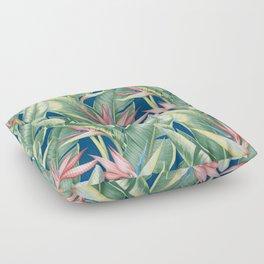Flowers Birds of Paradise Floor Pillow