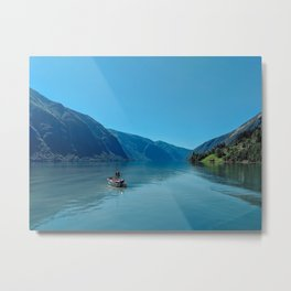 Everything is Blue Except for my Mood Metal Print