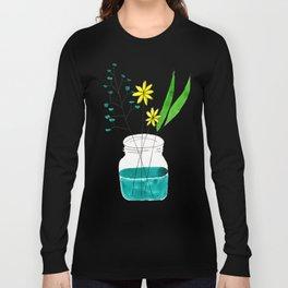 mason jar flower arrangement Long Sleeve T-shirt
