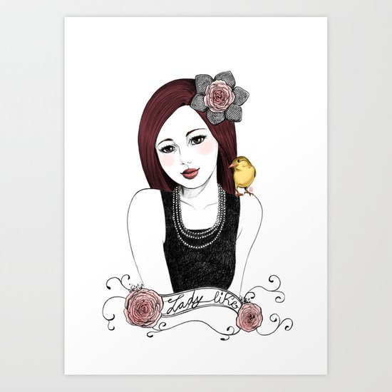 Lady Like Art Print