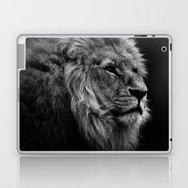 Black Print Lion Laptop & iPad Skin