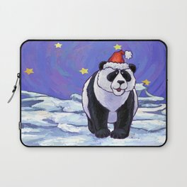 Panda Bear Christmas Laptop Sleeve