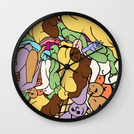 Human Slugs Wall Clock