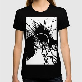Form Out Of Chaos - Black and white conceptual abstract T-shirt