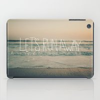leah flores iPad Cases featuring Let's Run Away by Laura Ruth and Leah Flores by Leah Flores