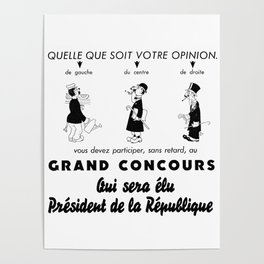 French Political Poster 1953 Poster