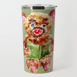 Painted Teddy Bear Travel Mug