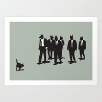 reservoir dogs Art Prints featuring Reservoir Dogs by Clayton Dixon