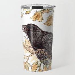Autumnal Equinox Crow Bellflowers Travel Mug