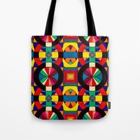 introvert Tote Bags featuring Introvert/Extrovert by Art by Andrew Smith