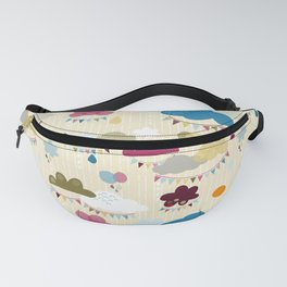 party clouds pattern Fanny Pack