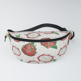 Red dragon fruit on off white Fanny Pack
