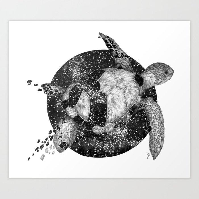 Cosmic Turtle Kunstdrucke