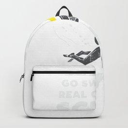 Girl Swimming Or Go Scuba Diving Backpack