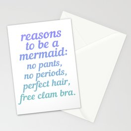 Reasons To Be A Mermaid Stationery Cards
