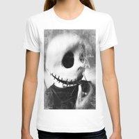 jack skellington T-shirts featuring smoking jack skellington by Joedunnz