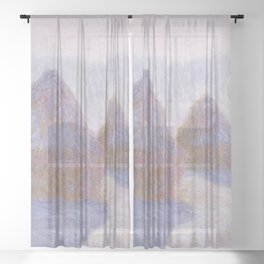 Claude Monet - Haystacks (Effect of Snow and Sun).jpg Sheer Curtain
