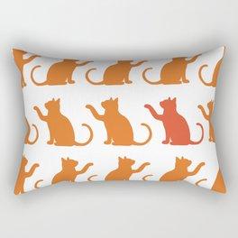 Cat Lineup Rectangular Pillow