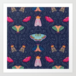 Beautiful Moths Art Print