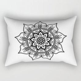 BW Floral Mandala Rectangular Pillow