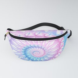 Striped Pastel Spiral in Pink, Blue and Purple Fanny Pack