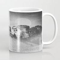 rushmore Mugs featuring Rushmore at Night by Peaky40
