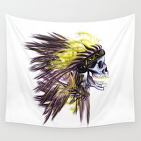 native american Wall Tapestries featuring Native by @Subliminal_society