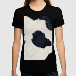 Black and White Cowhide Photography T-shirt