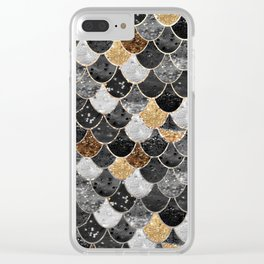 REALLY MERMAID BLACK GOLD Clear iPhone Case