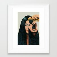 woman Framed Art Prints featuring Normalization by Eugenia Loli