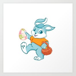 Easter bunny rabbit Art Print