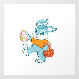 Easter bunny rabbit Art Print
