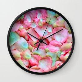Soft Petals 2 Wall Clock