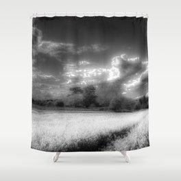 The Peaceful Farm Infrared  Shower Curtain