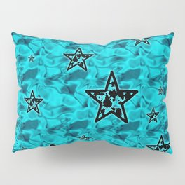 Aqua Toxic Stars Pillow Sham