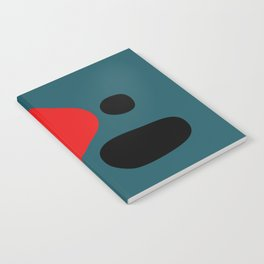 Minimal Red Black Abstract Art Notebook
