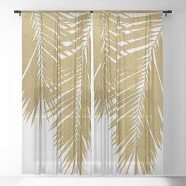 Palm Leaf Gold II Sheer Curtain