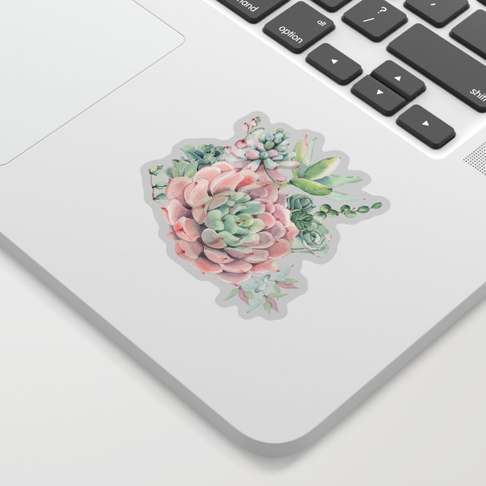 Pink Succulents by Nature Magick Sticker