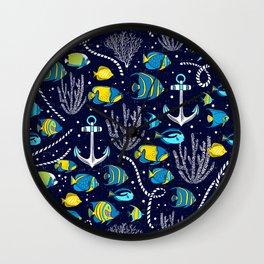 Deep Blue Sea Navy Wall Clock