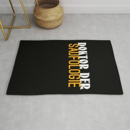 Doctor Beer Blurred Drinking Gift Rug