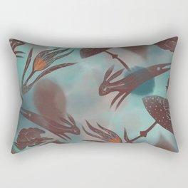 Leaping Hares Rectangular Pillow