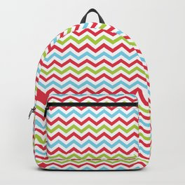 Multi Colored Wavy Line Pattern Backpack