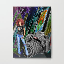 FUNKYTOWN (featuring Sancha McBurnie as a model, along with her photography work) Metal Print