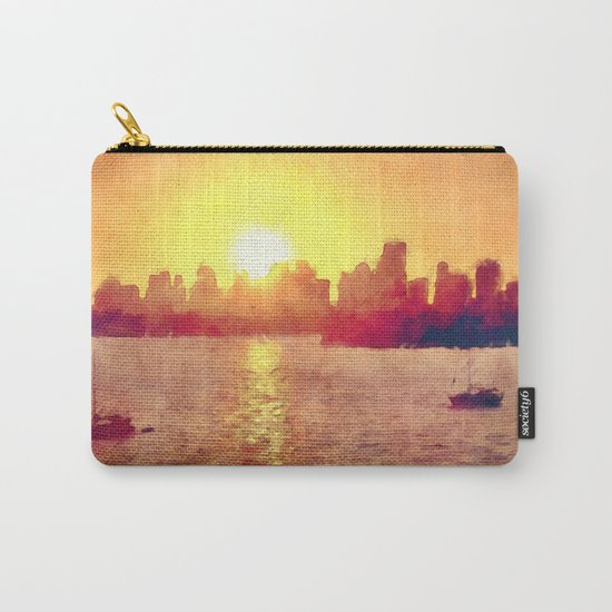 Sunset Over Miami Florida Carry-All Pouch