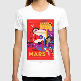 Mars - NASA Space Travel Poster (Alt) T-shirt