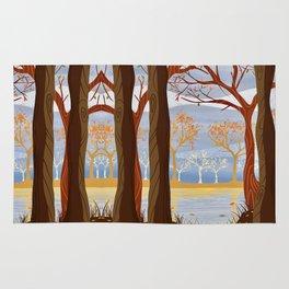 Autumn Leaves Autumn Woods Rug