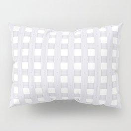 Light Grey Wood Lattice Pillow Sham